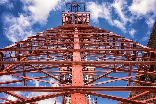 Headframe, Bill, Mining, Industry, Ruhr Area, Mine