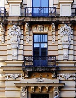 Facade, Architecture, House Facade, Playful