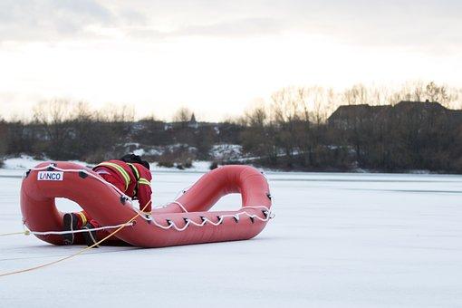 Dlrg, Ice Rescue, Water Rescue, Water, Ice, Rescue