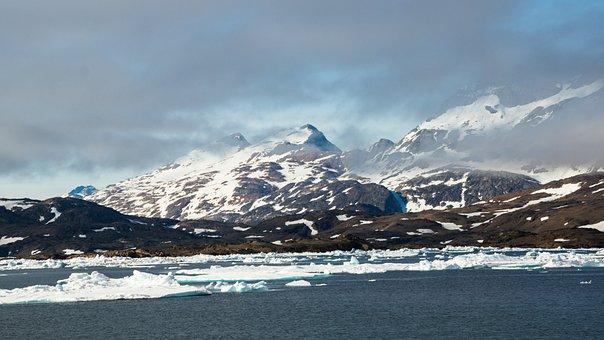 Mountain, Sea, Wilderness, Ice, Landscape, Nature