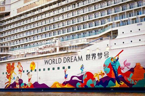 Cruise Ship, World Dream, Ship, Mega, Ozeanriese