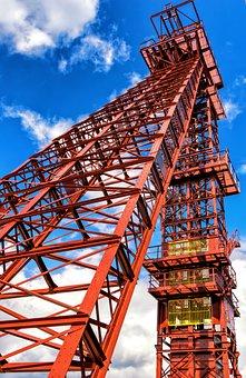Bill, Mining, Headframe, Ruhr Area, Historically