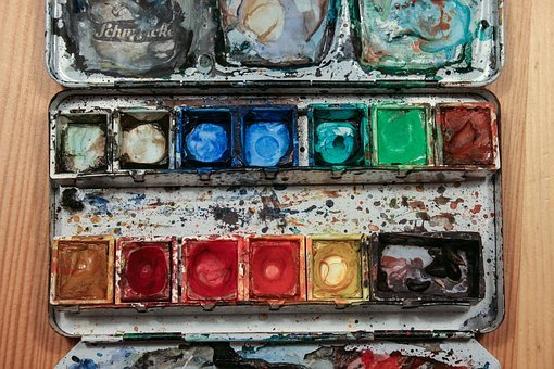 Color, Paint Boxes, Watercolour, Paint, Draw, Colorful