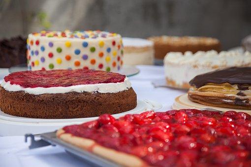 Cake, Cake Buffet, Pie, Dessert, Buffet, Träuble Cake