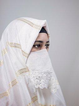 Portrait, Arabian, Woman, Girl, Muslim, Clothing