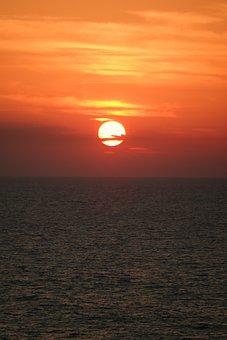 Sunset, Sea, Abendstimmung, Farbenspiel, Romance