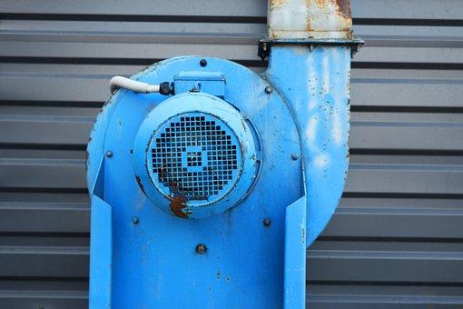 Ventilator, Blue, Ventilation, Air, Fan, Conditioning