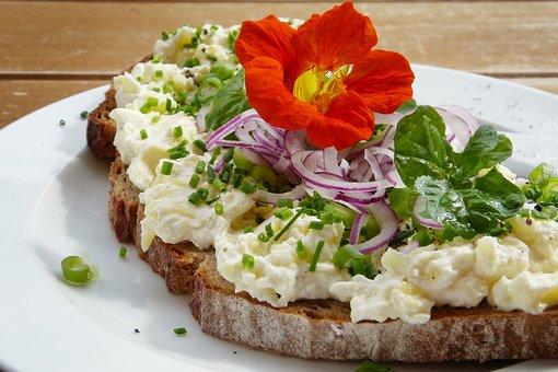 Bread, Nasturtium, Watercress, Onion, Earth Apple