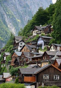 Austrian Lakes, Alps, Mountain, Travel, Architecture