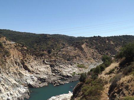 Hill, River, Frozen River, Blue, Ice Cream, Ice