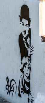 Street Art, Chaplin, Charlie, Hat, Man, Profession, Boy