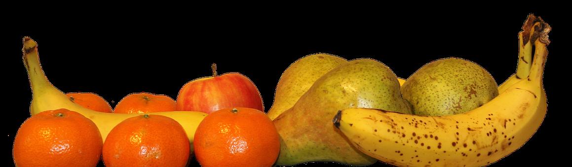 Header, Banner, Tangerine, Citrus, Orange, Banana, Pear
