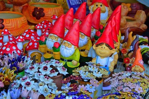 Dwarves, Garden Gnome, Color, Garden, Garden Decor