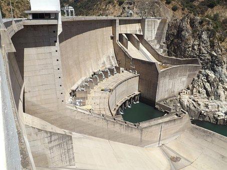 Bridge, Dam, Water, Huanza, Power Plant, Pipe