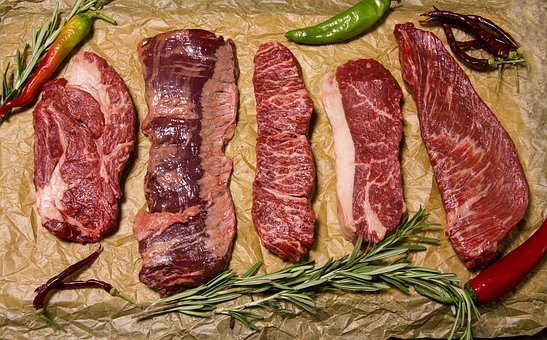 Meat, Beef, Food, Steak, Incision, Delicious