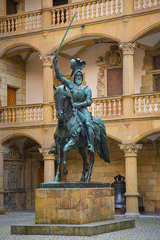 Stuttgart, Elder, Equestrian Statue, Reiter, Bronze