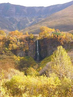 Waterfall, Spillway, Autumn, Fall Colors