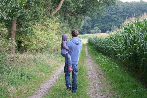 Walk, Father, Away, Run, Hiking, Human, Leisure