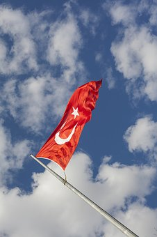 Flag, Sky, Turkey, Red, Month, Turkish Flag, Star, Blue