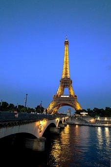 Paris, Eiffel Tower, France, Postcard, City, Center