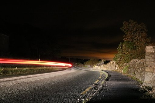 Traffic, Highway, Lighting, Night, Road, Long Exposure