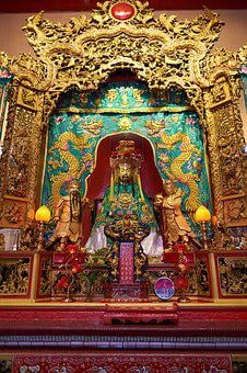 Temple, Chinese, Buddhist, Buddhism, Hinduism, Asian