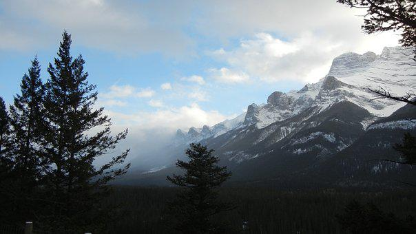 Canmore, Alberta, Rocky Mountains, Mountains, Landscape