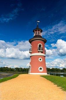 Lighthouse, Moritz Castle, Pond, Moritz Burger Ponds
