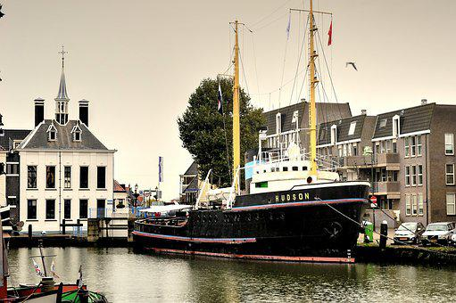 Hudson, Maassluis, Boat, Tug, Museum Ship