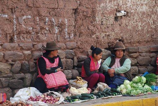 Peru, Dealer, Market Women