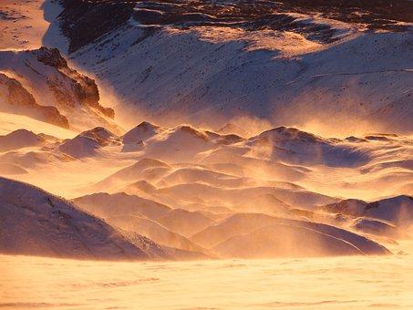 Volcano, Mountains, Clouds, Snow, Landscape, Nature