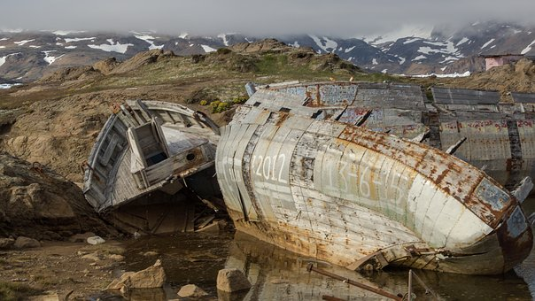 Boat, Old, Greenland, Aged, Abandoned, Weathered