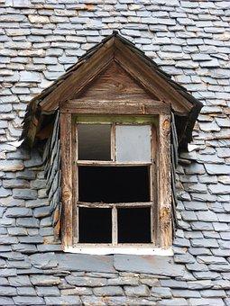Roof Window, Window, Slate Roof, Popular Architecture