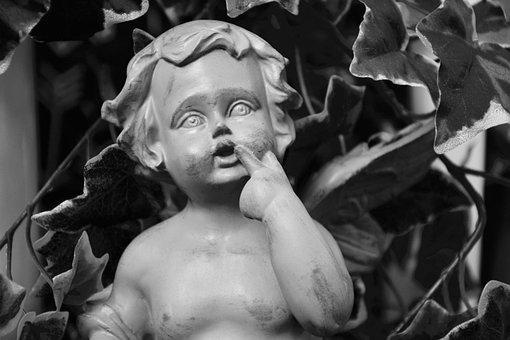 Statue Angel, Resin, Decorative, Decoration