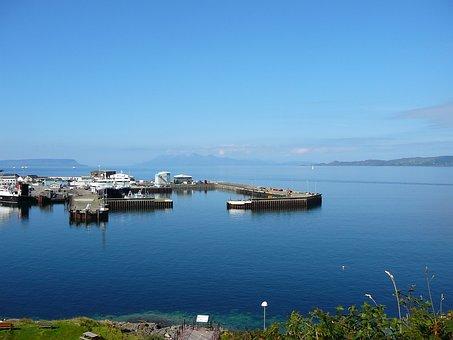Scotland, Scottish, Seascape, Harbour, Harbor, Calmac