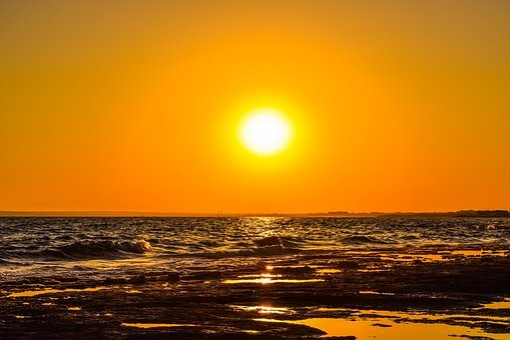 Sun, Sunset, Summer, Nature, Sunlight, Landscape