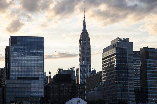 Usa, New York, Empire State Building, Sunset