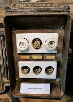 Fuse Box, Backups, Current, Siemens, Schuckert, Voltage