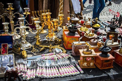 Flea Market, Junk, Antiques, Used Commercially, Antique