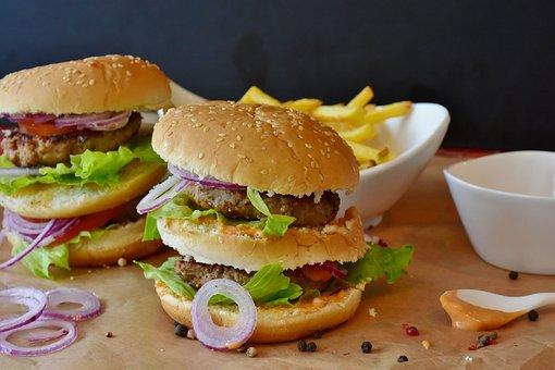 Burger, Hamburger, Roll, Barbecue, Barbeque, Bbq