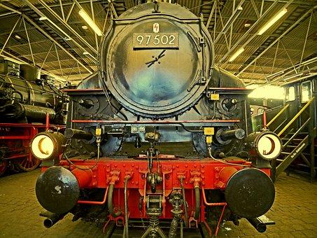 Steam Locomotive, Railway Museum, Bochum-dahlhausen