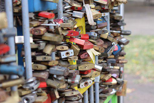 Castles, Love, Love Locks, Castle, Valentine's Day