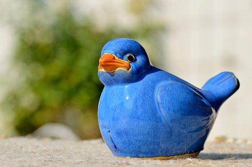 Bird, Tonvogel, Clay Figure, Ceramic Figures, Deco