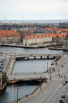 Copenhagen, Panorama, City, Cityscape, Architecture