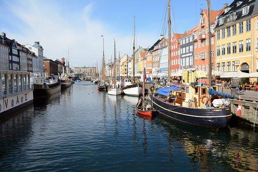 Copenhagen, Nyhavn, Scandinavia, Denmark, Travel, Boat