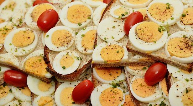 Egg Sandwich, Egg, Bread, Yolk, Boiled Eggs