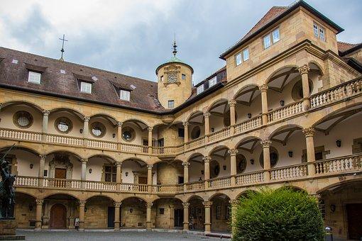 Stuttgart, Elder, Courtyard, Arkadenhof