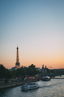 Paris, France, The Eiffel Tower, Night View, Travel