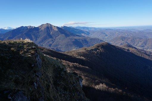 Mountains, Pyrenees, Landscape, Blue Sky, France