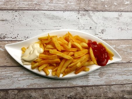 French Fries, Eat, Snack, Fast Food, Delicious, Ketchup